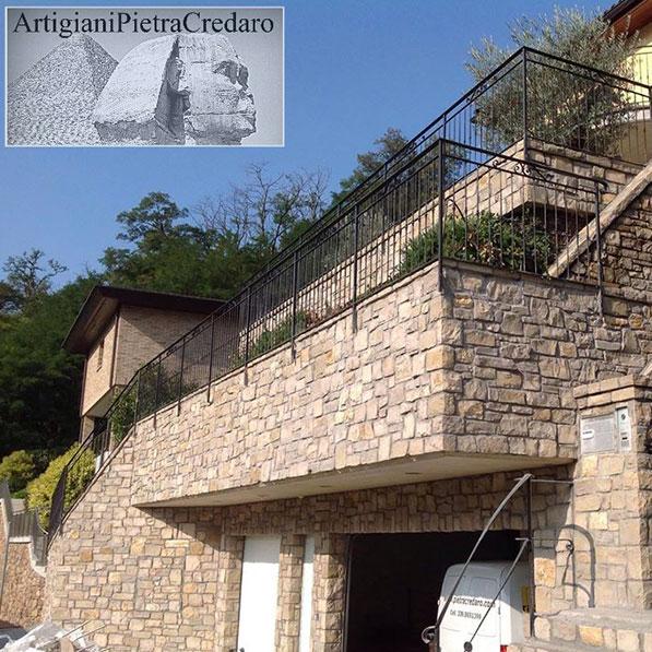 Rivestimento pietra esterno Lombardia
